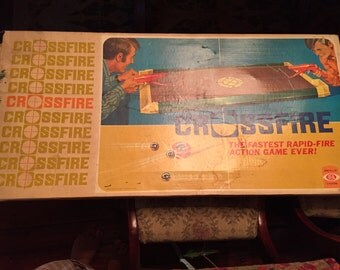 Vintage 1970s IDEAL Crossfire game