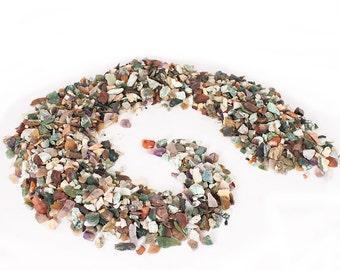 Natural Gemstone gravels - 4 Lbs. Rough Natural Semi Precious Gemstone Gravel - Bulk Assorted Mix - natural mix rocks -plant support