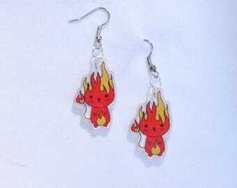 Fire Elemental Earrings/ Charms