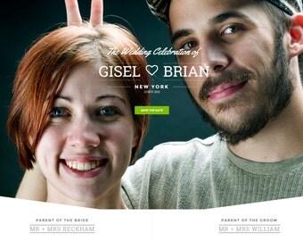 We're Happy | Beautiful Wedding Website | Wedding Web Design