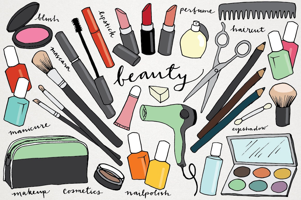 makeup amp beauty clipart hand drawn clip art makeover