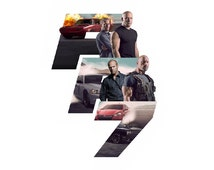Fast and Furious 7 Hot Movie Silk Cloth Poster M506(2)