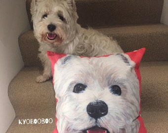 Westie Cushion/Pillow Cover FREE SHIPPING