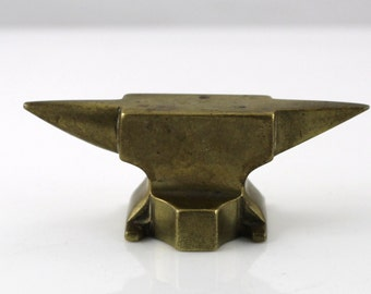 Antique brass anvil