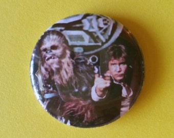 """Star Wars, Han and Chewie        1"""" Button"""