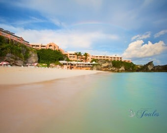 Over the Rainbow ~ Reefs Club and Resort, Bermuda, Pink Sand, Ocean, Turquoise Water, Wedding, Honeymoon, Tropical, Coastal Photography, Art