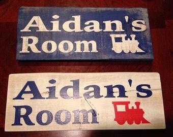 Custom Wooden Children's Name Bedroom Signs