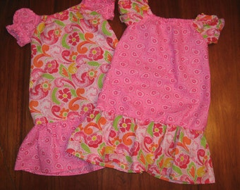 Pretty Pink Peasant Dresses