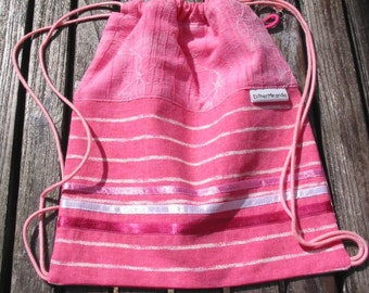 Pink Marble Bag, Girls Bag, Small Bag, Drawstring Bag