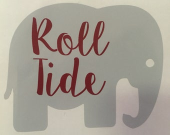 "University of Alabama ""Roll Tide"" Elephant Decal - College Decal"