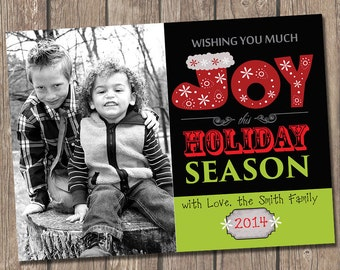 Wishing you Joy Christmas Photo Card
