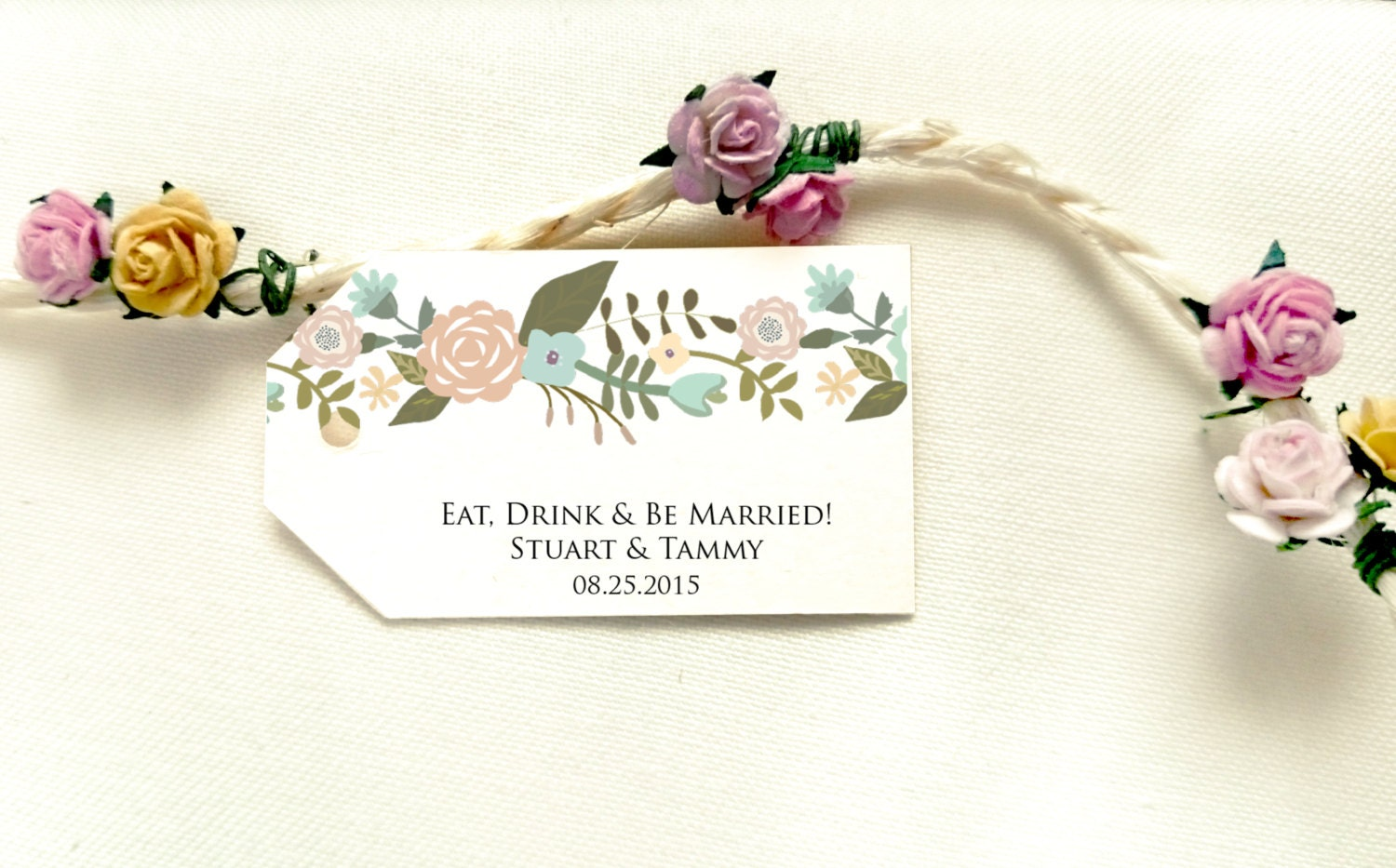 Floral Favor Tag Template Favor Tag Printable by Instaprintables