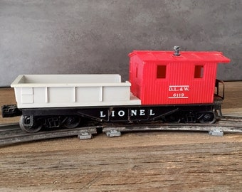 Vintage Lionel Caboose, 6119 D.L. & W. Caboose, Antique Lionel Train Caboose, Collectible Train Caboose