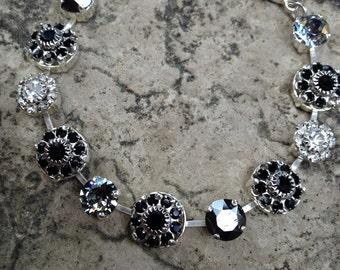 Swarovski multi size stone bracelet