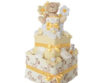 Happy Nappy Square Cake (3 Tier)