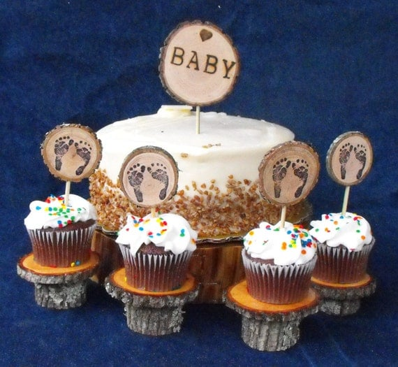 Baby Shower Decoration Packages : Woodland baby shower decoration package tiny by ozarkcraftwood