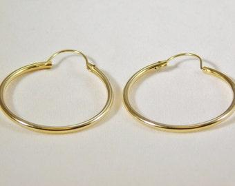 14kt Yellow Gold Polished Hoop Earrings
