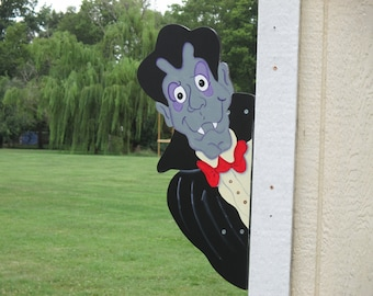 Halloween Vampire Yard Sign Peeker