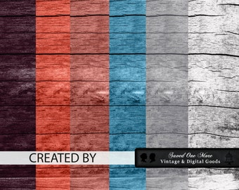 Barn Door Weathered Backgrounds--Digital Download--Weathered, Vintage, Aged and Rustic--6 Gorgeous Colors