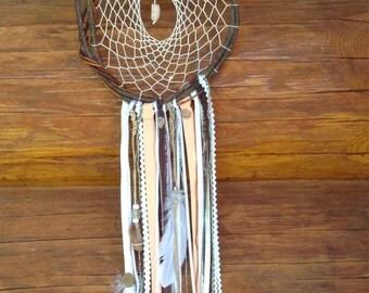 Peach /Willow /Dreamcatcher Feather Glass beads