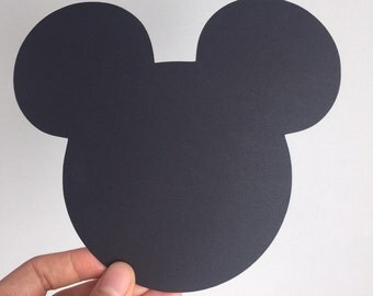 10 Large Black Mickey Mouse die cuts 5.3x6.1 inches, Mickey Mouse Birthday, Mickey Mouse Baby Shower, Mickey Party, Disney die cuts