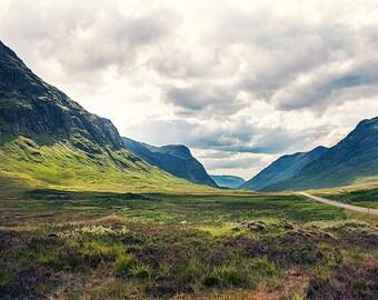 Scottish landscape, Mystery Highlands, Scenic Glencoe, Scotland, Wall Art, Wall Decor, FINE ART Photography PRINT 9x6 inches