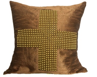 Gold Euro Sham Gold Shams, Gold Standard Sham Gold Beaded Sham Gold Sham Covers 26x26 Gold Shams Gold Bedding Shams