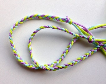 Braided friendship bracelets - set of 2