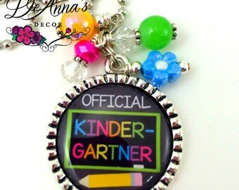 Official Kindergartner bling necklace