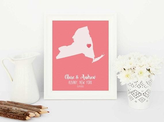 ... distance love art, long distance, anniversary gift, best friend gift