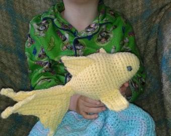 crochet goldfish lovey blanket