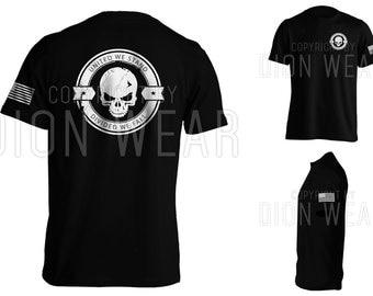 Divided We Fall v3 Sniper Skull T-shirt