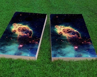 Star Dust 2x4 Cornhole Board Set with bags | Custom Corn Hole | Bag Toss | Corn Toss | Bean Bag Toss