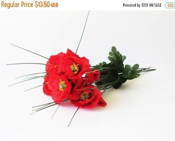 Vente grand 5 fleurs artificielles en soie par for Vente fleurs artificielles