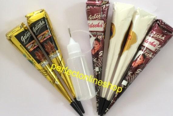 Best Henna Cones: White Henna Kit 2 Henna Cones Best Applicator By