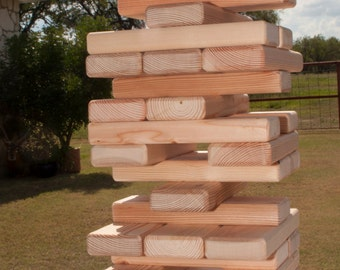Giant Stacking Blocks - Great for weddings, parties, family reunions and get-togethers.