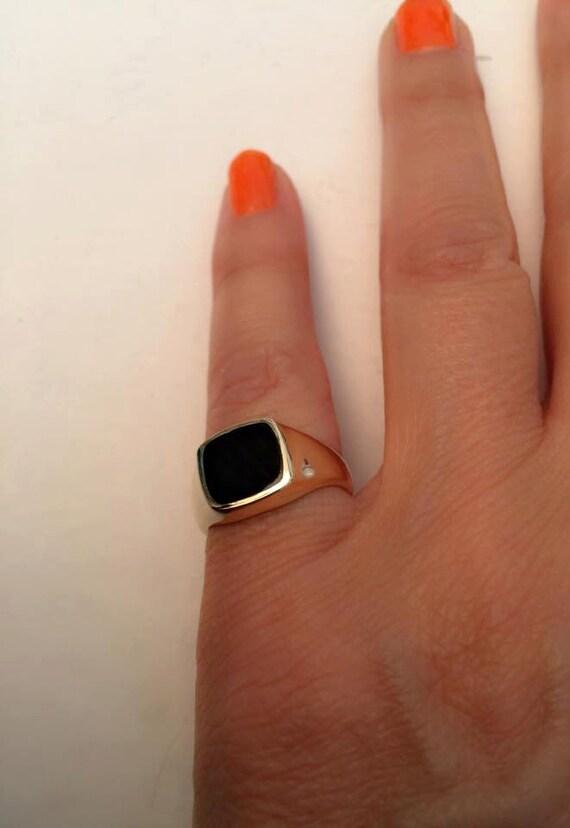 Signet Ring women ring Pinky ring yx Signet Ring Gold