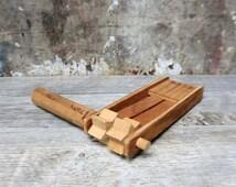 Vintage Wooden Noisemaker - Handmade - LOUD!