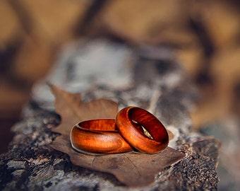 Rings natural wood (Apple-tree). Wedding Ring. Sizes to order. WOODEN RING #K1