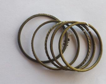 BRACELETS BRONZE FIVE-Small to Medium wrist,5 bronze bracelets,3 different designs of 5 bracelet combo.Fantastic (Was 75 now 45,Selling Out)