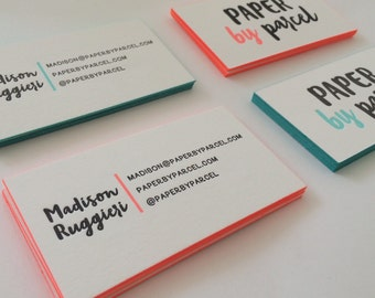 Custom Letterpress Business Cards / Deposit