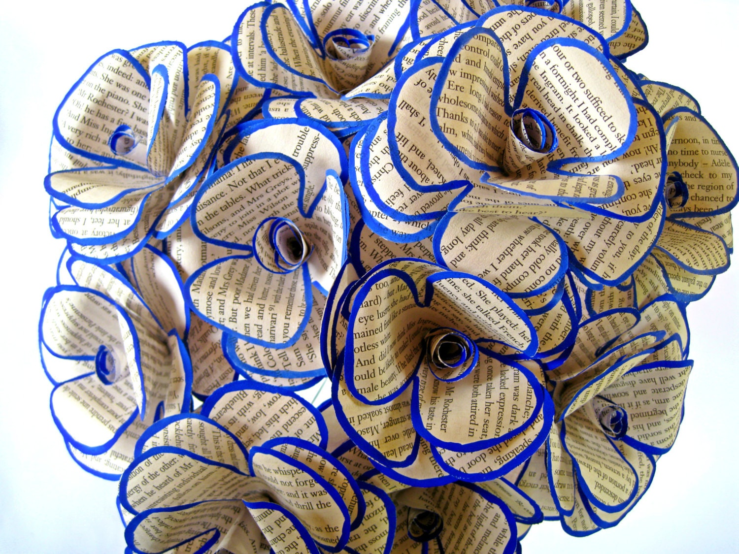 Set of 6 book paper flowers book page flowers paper wedding zoom dhlflorist Image collections