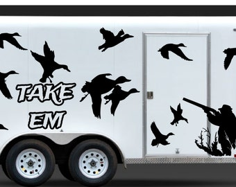 Mallard Duck Decal Etsy - Rear window hunting decals for trucksduck hunting rear window graphics best wind wallpaper hd