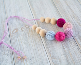Crochet nursing necklace for mom/ Breastfeeding necklace - Teething necklace - Nursing Jewelry
