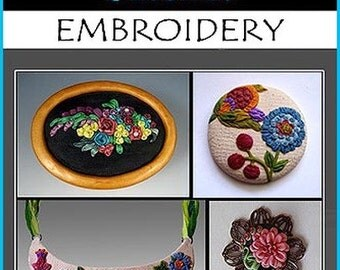 Clay Stitches Embroidery INSTANT DOWNLOAD Craft E-Book,