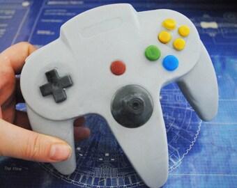3D N64 Controller parody handmade Soap – Novelty, gift, birthday present, retro gamer, geek, nerd