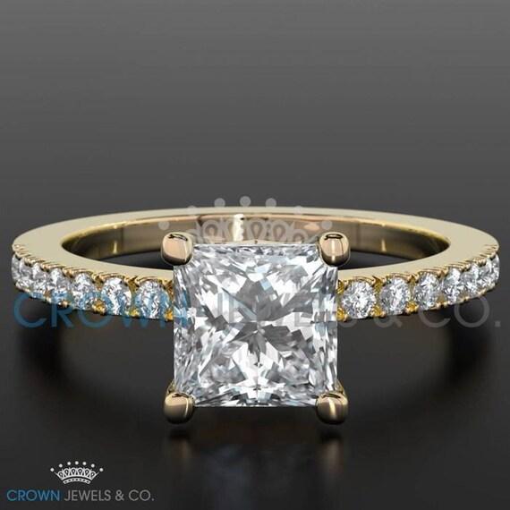 1 30 Carat Anniversary Diamond Ring F SI Princess Cut 18 Karat