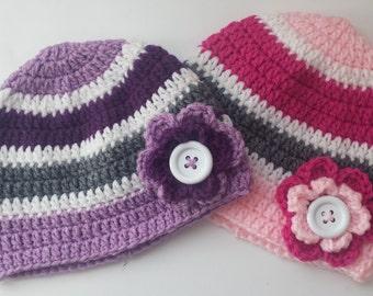 Girls Crochet Beanie