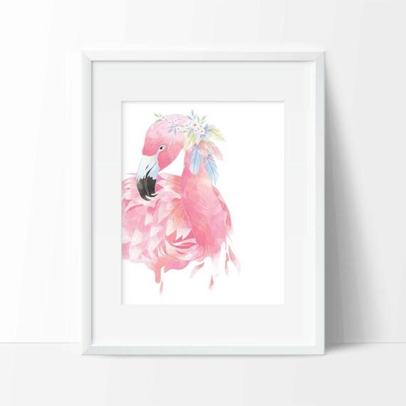 Flamingo Art Print Wall Art Animal Decor Office Decor