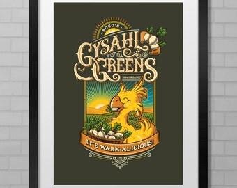 Final Fantasy: It's Wark-alicious! Boco's Gysahl Greens - A1 & A2 Poster